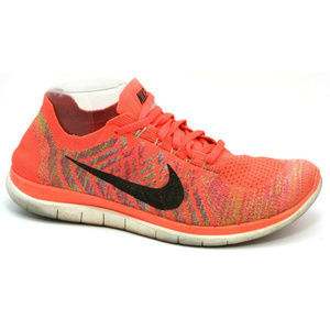 Nike Womens Free 4.0 Flyknit Hot Lava Sneakers 11